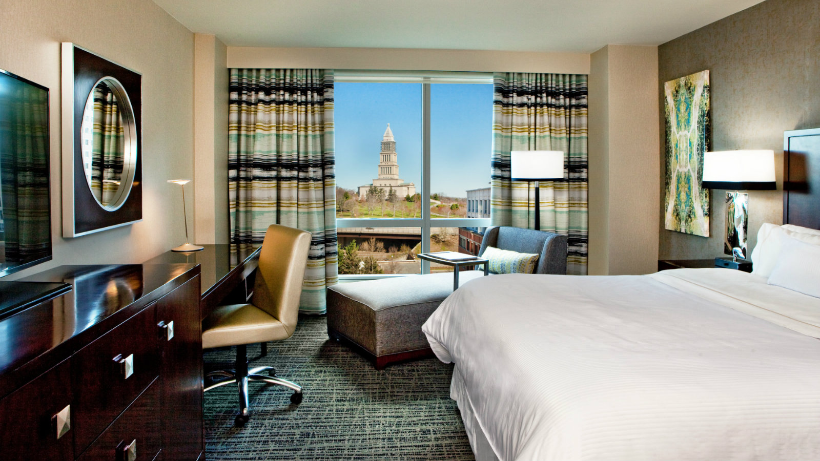 Newly renovated king room with a view at The Westin Alexandria Hotel